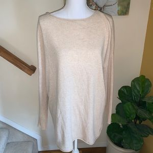 Tory Burch cashmere tunic tan sweater size medium